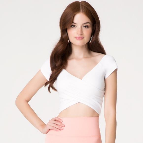 170da4e71f6 bebe Tops | Womens White Off Shoulder Wrap Crop Top S | Poshmark